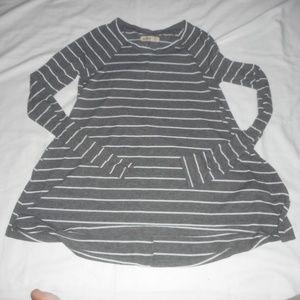 Hollister Grey Stripe Shirt